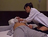 Female doctor from Tokyo gets boobs fucked and pussy screwed