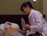 Female doctor from Tokyo gets boobs fucked and pussy screwed picture 11