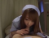 Kinky Japanese nurse Konishi Yuu gets her hairy pussy creamed