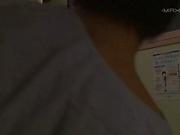 Kinky Japanese nurse Konishi Yuu gets her hairy pussy creamed
