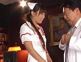 Naughty nurse likes to be humiliated
