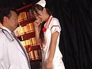 Naughty nurse likes to be humiliated