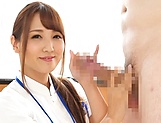 Oversexed Japanese nurse sucks a cock and masturbates her twat picture 15
