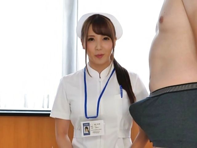 Wild nurse takes on a big dick while rubbing her clit