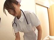 Naughty nurse gets rid of her sexual desires