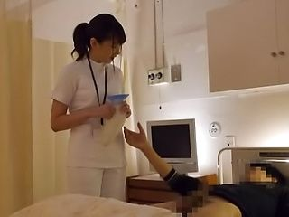 Sexy nurse enjoys an erotic tease session from a wild hunk