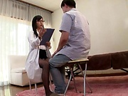 Japanese nurse in stockings got fucked