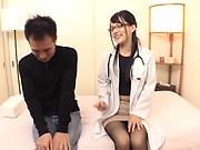 Abe Mikako has her pointy nipples played with