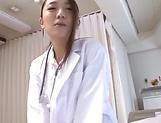 Charming Japanese nurse in black stockings Hamasaki Mao enjoys a ride