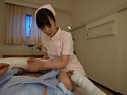 Amazing Japanese nurse Ootori Kaname gives the best sex therapy