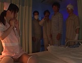 Nurse is masturbating with sex toys