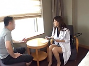 Amateur Japanese nurse invites her patient to have hardcore fun