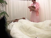 Alluring Tokyo nurse deepthroats a dick and gets pounded hard