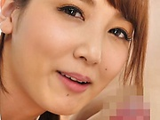 Sweet Japanese nurse deepthroats a pecker in pov and eats jizz