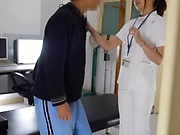 Sexy nurse gets her wet tight twat rammed hard at work