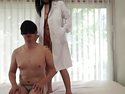 Nurse with glasses is getting fucked