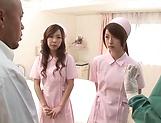 Hardcore foursome involving sexy hot nurses