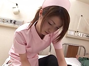 Hot nurses are rewarded with a creamy load indoors