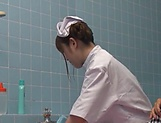 Steamy nurses pleases patient with a new treatment