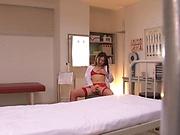 Hot AV model nurse gets a hardcore pounding