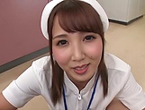 Hot Tokyo nurse licks balls and blows a cock for a pov video picture 10