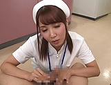 Hot Tokyo nurse licks balls and blows a cock for a pov video picture 12