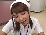 Hot Tokyo nurse licks balls and blows a cock for a pov video picture 13