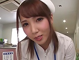 Hot Tokyo nurse licks balls and blows a cock for a pov video picture 1