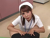 Hot Tokyo nurse licks balls and blows a cock for a pov video picture 6