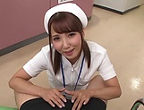 Hot Tokyo nurse licks balls and blows a cock for a pov video picture 7