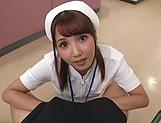 Hot Tokyo nurse licks balls and blows a cock for a pov video