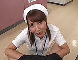 Hot Tokyo nurse licks balls and blows a cock for a pov video picture 9