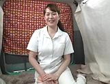 Half naked nurse enjoys solo masturbation at work picture 12