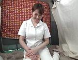 Half naked nurse enjoys solo masturbation at work picture 13