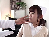 Amazing Japanese nurse is very excited picture 15