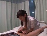 Hot Tokyo nurse has nicely shaved pussy picture 12