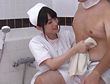 Asian nurse sucks and fucks with horny patient