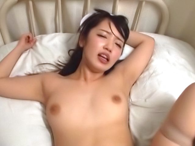 Wild creampie action for lustful nurse after sweet sex