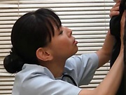 Hot Japanese nurse sucks patient's cock until the last drop