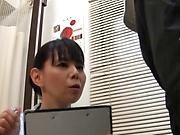 Hot Japanese nurse sucks patient's cock until the last drop