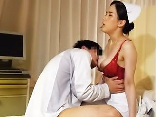 Busty nurse enjoys getting her twat rammed from behind