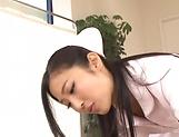 Lustful Mizuki Miri aweosme threesome delight picture 11