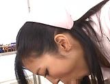 Lustful Mizuki Miri aweosme threesome delight picture 12