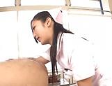 Lustful Mizuki Miri aweosme threesome delight picture 13