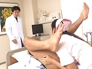 Hot milf Mizuki Miri hardcore threesome stimulation
