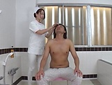 Kinky Tokyo nurse enjoys hardcore sex in a bath with her patient picture 15