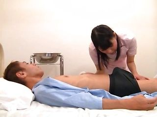 Sexy nurse can't get enough of this patient's dick