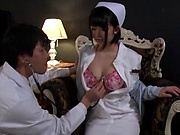 Amazing Japanese nurse is being naughty