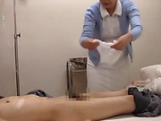 Sexy amateur nurse applies blowjob with passion