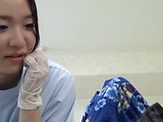 Hot looking Japanese nurse gets perky tits fucked and pussy poked